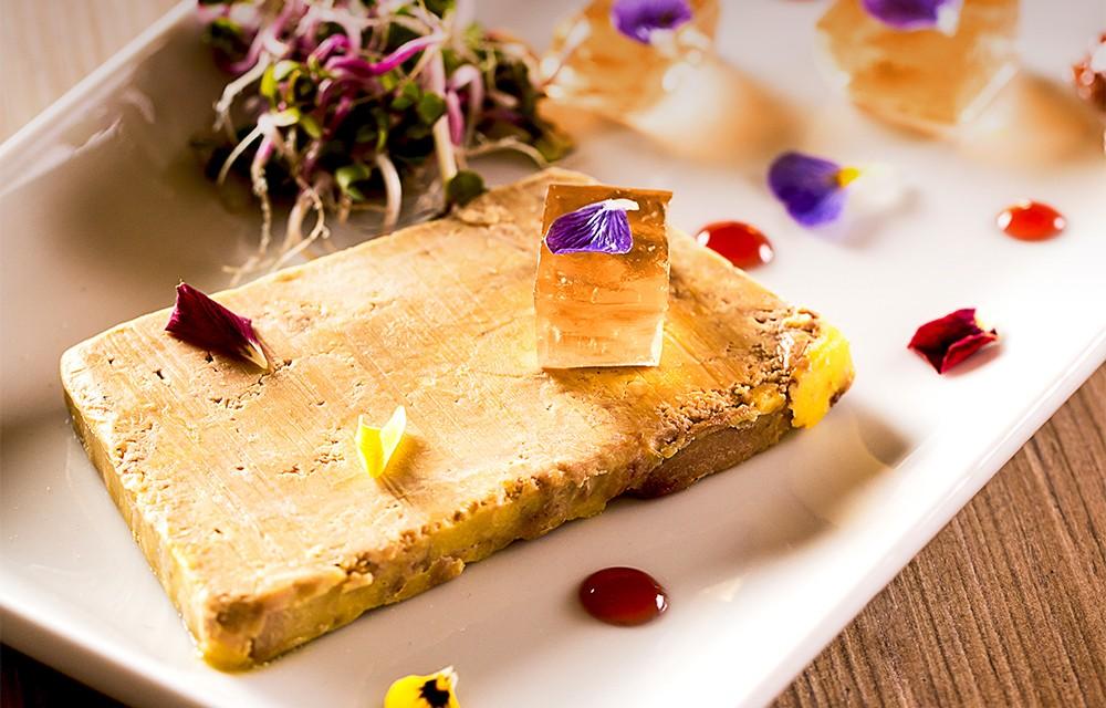 Terrine de foie gras de canard, gelée de Grain d'Amour