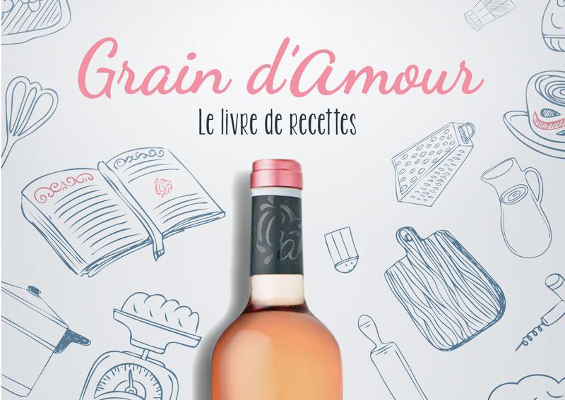 Couverture du livre de recettes Grain d'amour - Graine de cuistot